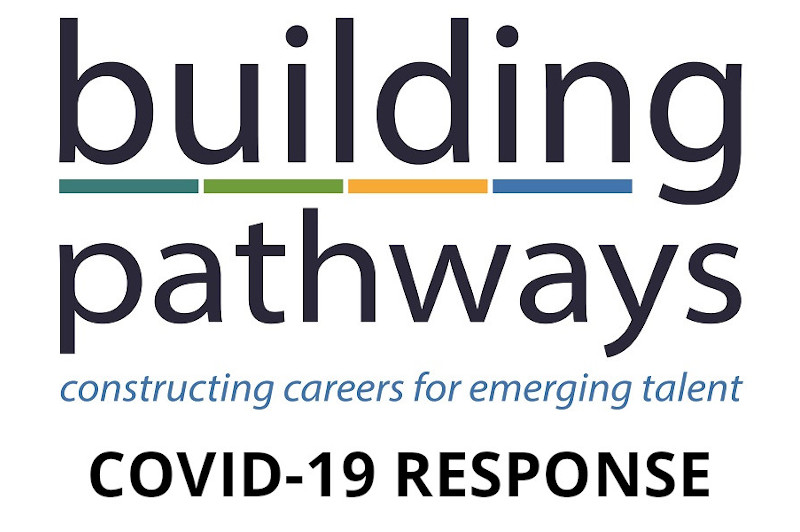 building pathways logo with covid-19 response