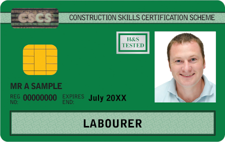 Sample CSCS Green Card