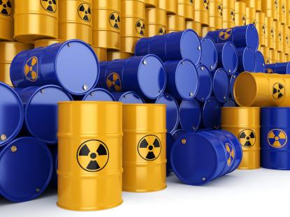 blue and gold toxic barrels