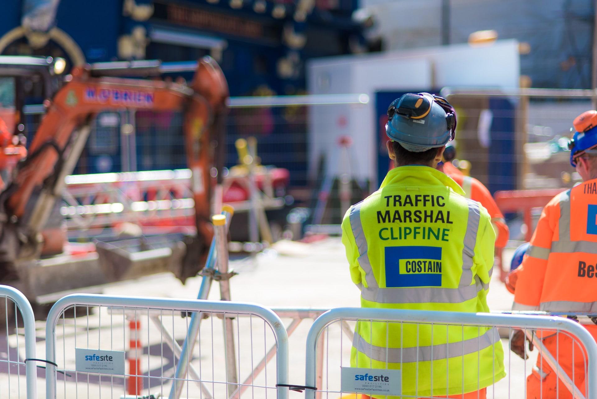 construction site traffic marshal