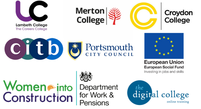 A banner comprised of the logos of our various partner agencies